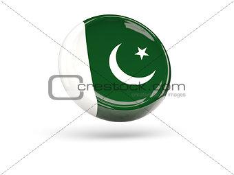Flag of pakistan. Round icon