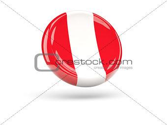 Flag of peru. Round icon