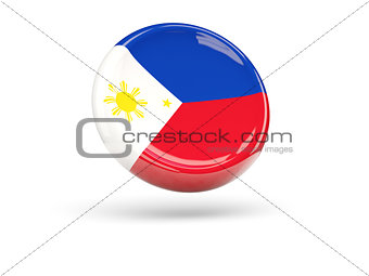 Flag of philippines. Round icon