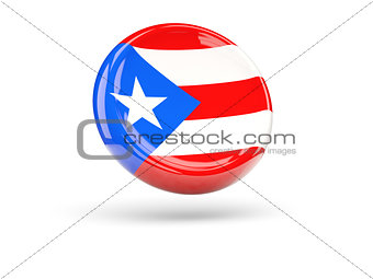 Flag of puerto rico. Round icon