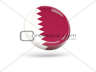 Flag of qatar. Round icon