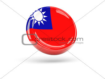 Flag of republic of china. Round icon