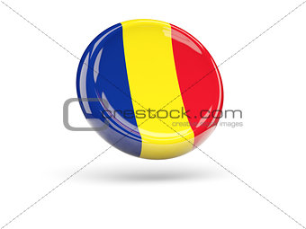 Flag of romania. Round icon