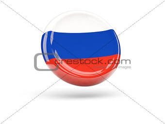 Flag of russia. Round icon