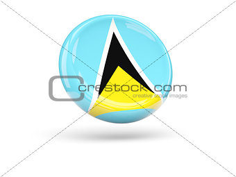 Flag of saint lucia. Round icon