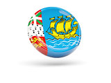 Flag of saint pierre and miquelon. Round icon