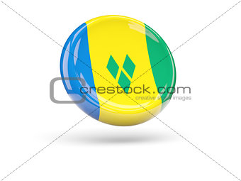 Flag of saint vincent and the grenadines. Round icon