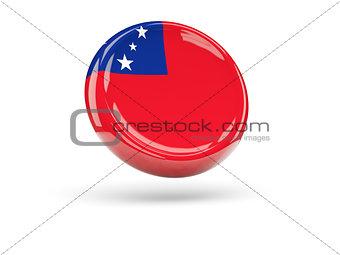 Flag of samoa. Round icon