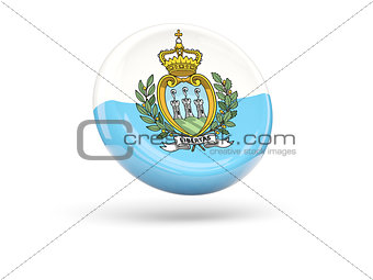 Flag of san marino. Round icon