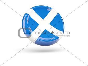 Flag of scotland. Round icon
