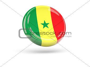 Flag of senegal. Round icon