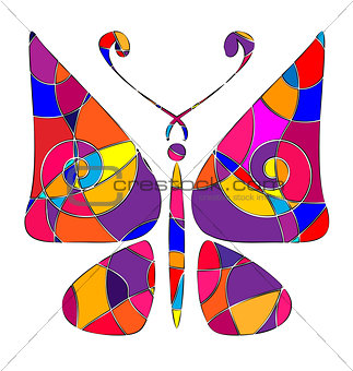 abstract colored butterfly