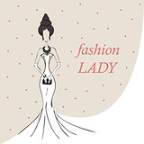 woman or girl. fashion background. vector
