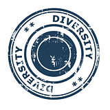 Diversity business concept rubber stamp