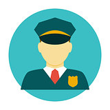 Policeman officer flat icon