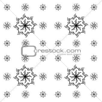 Abstract pattern in Oriental style. Design wall and floor tiles.