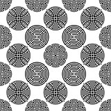 Black seamless ornamental pattern