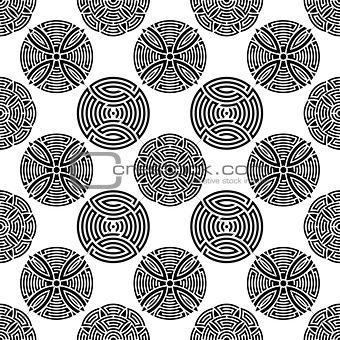 Black seamless ornamental pattern