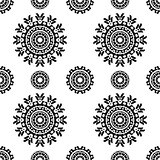 Seamless pattern with abstract ornaments