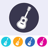 Vector acoustic guitar icon