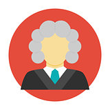 Judge avatar flat icon