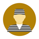 Criminal avatar flat icon