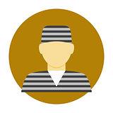 Criminal avatar flat icon