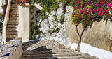 Italian courtyard in Sperlonga, , Italy