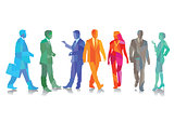Colors Joyful businessmen, businesswoman