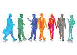Colors Joyful businessmen, businesswoman