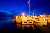 Village of Diklo near Zadar evening view