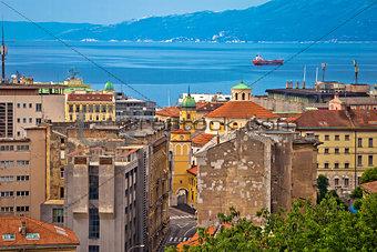 City of Rijeka waterfront view