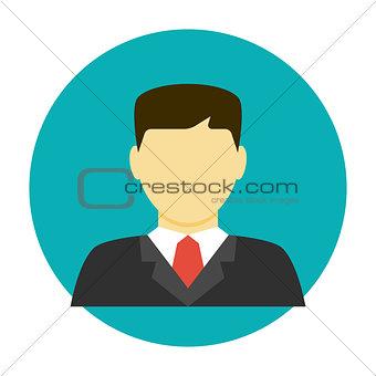 Lawyer avatar flat icon