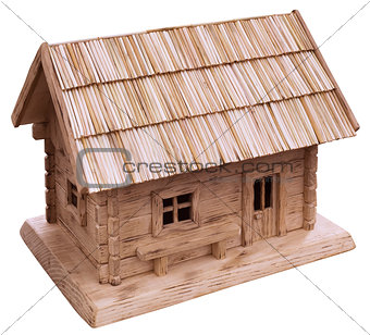 Old Wooden House Cutout