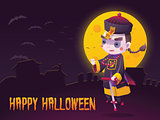 Chinese Hopping Vampire Ghost for Halloween Card