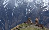 Tsminda Sameba monastery, Kazbegi, Georgian Military Highway, Ge