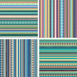 Set of colorful ethnic seamless patterns