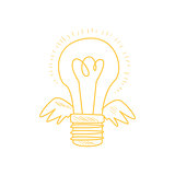 Winged Electric Idea Bulb