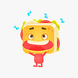 Sandwich Character Listening To Music
