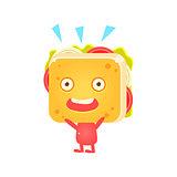 Sandwich Character Cheering