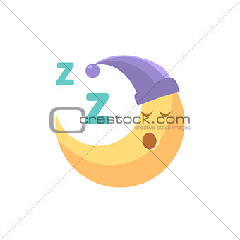 Sleeping Cartoon Crescent