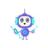 Robot With Radio And Antenna