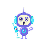 Happy Robot With Radio