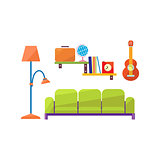 living Room Interior Set