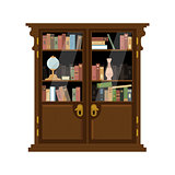 Antique Wooden Cupboard With Books