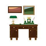 Antique Wooden Home Office Desk