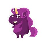 Purple Classy Lady Unicorn