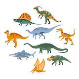 Jurassic Period Dinosaurs Set