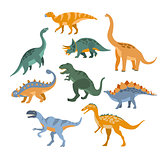 Different Species Of Dinosaurs Set