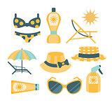 Beach Vacation Travelling Kit Set